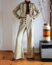 Vintage 70s Suit Pants Jacket High Waisted Wide Leg Bell Bottom Xs Small 1970s