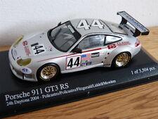 PORSCHE 911 996 GT3 RS 24h Daytona 2004 #44 PLATA Minichamps Coche Modelo 1:43