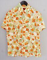 Men Hugo Boss Casual ShirtShort Sleeves Cotton L XMS145