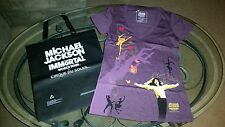 Michael Jackson Immortal World Tour Cirque Du Soleil women's med shirt/tote bag