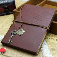 Vintage Blank Page Leather Bound Notebook Journal Kraft Paper Diary