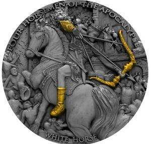 """2018 White Horse 2 oz Silver Coin """"Four Horsemen of the Apocalypse"""" - Niue"""