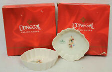 "VINTAGE HAND CRAFTED PAIR OF DONEGAL PARIAN CHINA 4.75"" DISHES MADE IN IRELAND"
