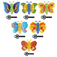 6 Butterflies Girls Party Bag Fillers Childrens Stocking Pocket Money Toy Prize