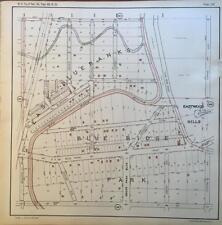 1925 KANSAS CITY MISSOURI BLUE BANKS PARK BIG BLUE RIVER ATLAS MAP