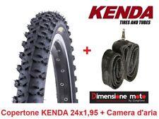 """Copertone KENDA 24x1,95 K831 Tassel. Nero + Camera per Bici 24"""" MTB Mountain Bik"""
