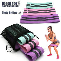 3PCS Fabric Resistance Bands Hip Booty Cloth Circle Hip Loop Exercise With Bag
