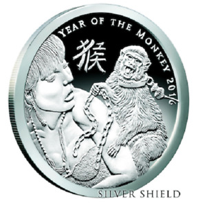 2016 Silver Shield 2 oz Year of the Monkey V1 Silver Proof SSG