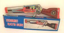 COSMIC Rifle Ray Gun Toy Tin Litho Japan SHUDO w/Box Vintage 1970's Excellent