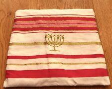5 LOT WOMAN'S JEWISH PINK/GOLD TALLIT PRAYER SHAWL SIZE 57-180 CM