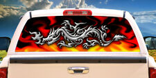 CHROME DRAGON Rear Window Graphic back truck decal suv view thru vinyl
