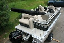 Little pontoon boat sale-New 14 Ft pontoon boat- 40 hp and trailer