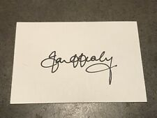 Ian Healy White Index Card Hand Signed With COA