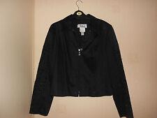 Joseph Ribkoff Exquisite Designer Black Cotton Jacket Size 14: Vintage: Stunning