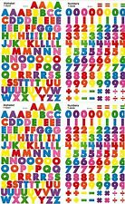 4 sheets Colorful Small ABC / 123 Alphabet Numbers Scrapbook 400 Stickers!
