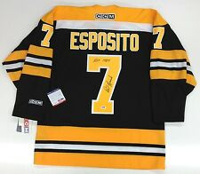PHIL ESPOSITO SIGNED & INSCRIBED BOSTON BRUINS HOF CCM JERSEY PSA/DNA U41608