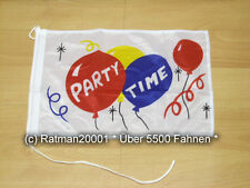 Fahnen Flagge Party Time Bootsfahne Tischwimpel - 30 x 40 cm
