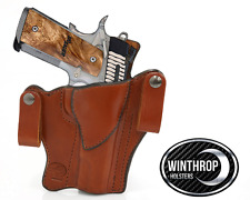 1911 5 inch barrel No Lasergrips No Rail IWB Dual Snap Holster R/H Brown