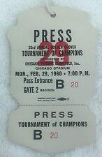 Muhammad Ali/Cassius Clay February 29,1960 Full Press Pass!!!! Extremely RARE