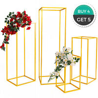 Gold Iron Metal Flower Stands Party Events 4pcs Wedding Centrepieces Venue Decor