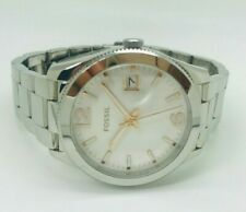 Fossil Perfect Boyfriend ES3728 White Dial Stainless Steel Ladies Watch (103E)