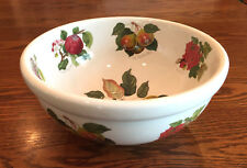 "Portmeirion Pomona 9 3/8"" Serving Salad Bowl Currant Pear Plum Apple~MORE PC AVL"