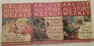 "Argosy All-Story Weekly, 1925, EDGAR RICE BURROUGHS, ""The Moon Men"" 3 of 4 parts"