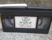 "RYOBI tool instructional 10"" Precision Woodcutting System VHS how-to 1993 DIY"