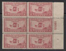 US #649 F-FVF MNH PLATE #19655 BLOCK OF 6