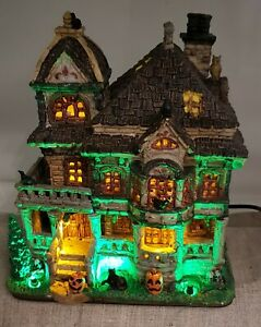 Lemax Halloween Lighted Porcelain Building. Grimsbury Haunted House. 2020
