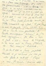 LF. CELINE Lettre autographe signée à JG. Daragnès. 5 pages. Céline désespéré.