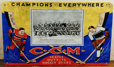 CCM Skates Outfits Hockey Stick Detroit Red Wings Champions Heavy Metal Adv Sign