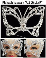 Rhinestone Venetian Mask Masquerade Crystal Party Mask Butterfly Mask *US Seller