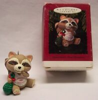 "Hallmark Keepsake GRANDCHILD'S FIRST CHRISTMAS BABY RACCOON 2"" ORNAMENT 1993"
