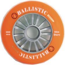 Ballistic Scooter Wheel -  Plastic Core - 100mm - 85A Duro -  Silver / ORANGE
