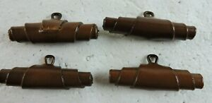 Vintage Ralph Lauren Leather Lot of 4 Toggle Buttons from Womens Coat