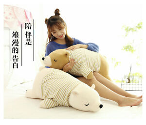 35/50cm Soft Polar Bear Stuffed Doll Cute Cartoon Plush Toy  Pillow Xmas Gift