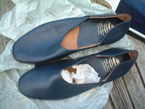 New and unused JASON 1V BLUE MANDARIN CHURCH'S SLIPPERS
