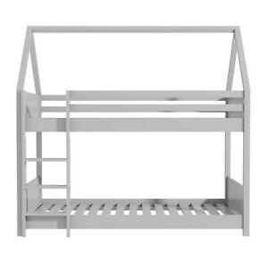 Coco House Bunk Bed in Light Grey