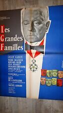 jean gabin LES GRANDES FAMILLES ! m audiard  affiche cinema 1958