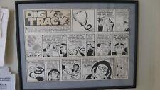 1976 Dick Tracy Oridginal Sunday Comic Art Strip