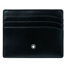 MONTBLANC PORTA CARTE DI CREDITO POCKET HOLDER 6cc nero 106653 credit card pelle