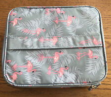 Womens portable Travel Bag - Pink Flamingos
