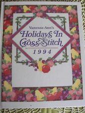 Vanessa-Ann's Holidays in Cross-Stitch 1994 - Oxmoor House - Pristine Condition