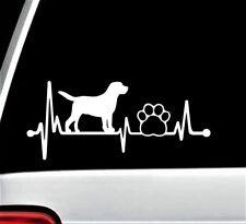 Lab Labrador Retriever Heartbeat Paw Lifeline Decal Sticker for Car Window BG135
