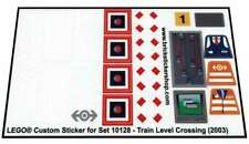 Lego® Custom Pre-Cut Transparent Sticker for Train 10128 - Train Level Crossing