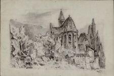 Dessins et lavis du XXe siècle et contemporains signés paysage pour Art déco