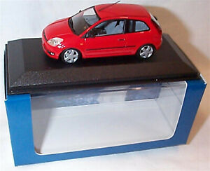Ford Fiesta MK5 3 Door Red 1-43 Sclae Minichamps New in case Boxed