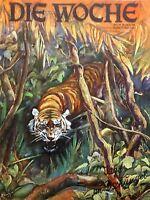 Rarität - Illustrierte DIE WOCHE Nr. 45 vom 5. November 1927, Jagd im Dschungel