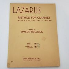 Lazarus Method For Clarinet Part 3 Boehm And Ordinary Carl Fischer 1946